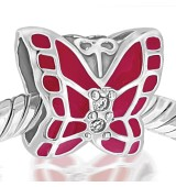 Mariposa rosa ficsia