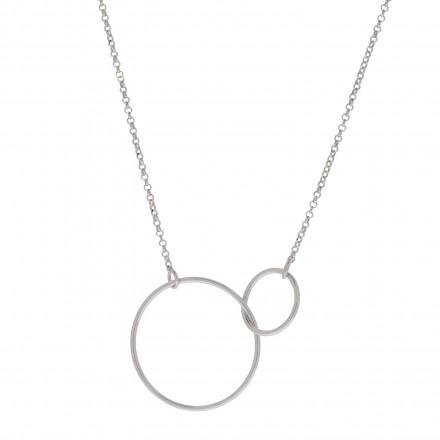 Collar trebol de plata con cadena