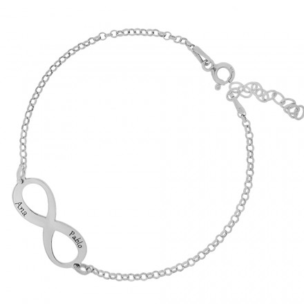 Collar infinito personalisable amigas