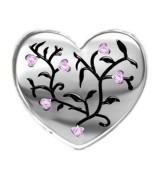 Corazón piedra rosa